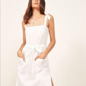 Reformation Elliot Dress (White Midi Dress)